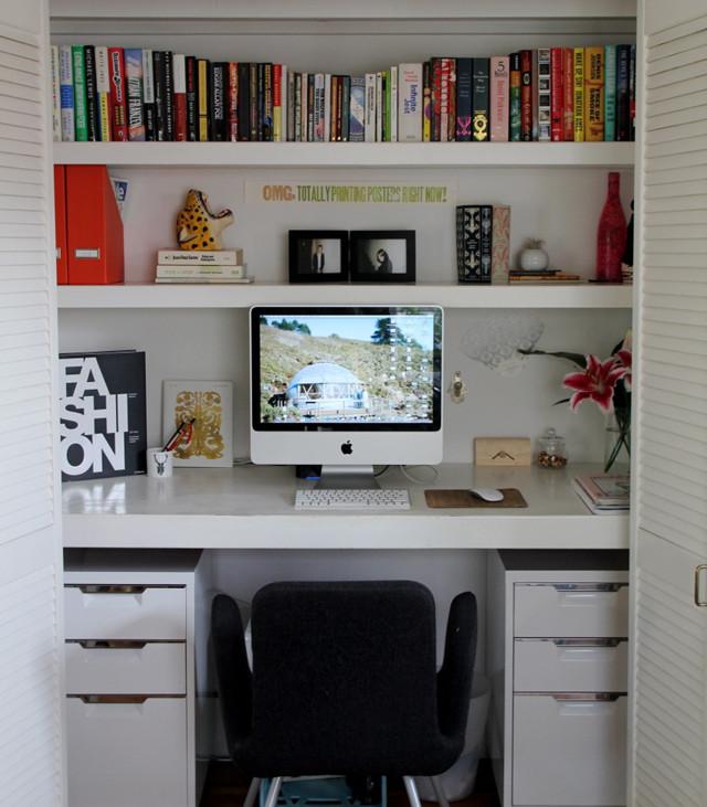 dulap transformat in birou 15