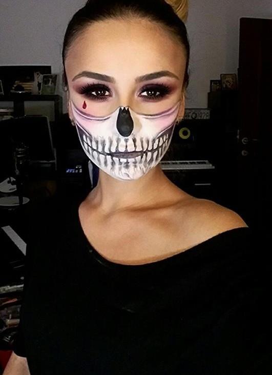 Machiaj Halloween Schelet Mask 2015