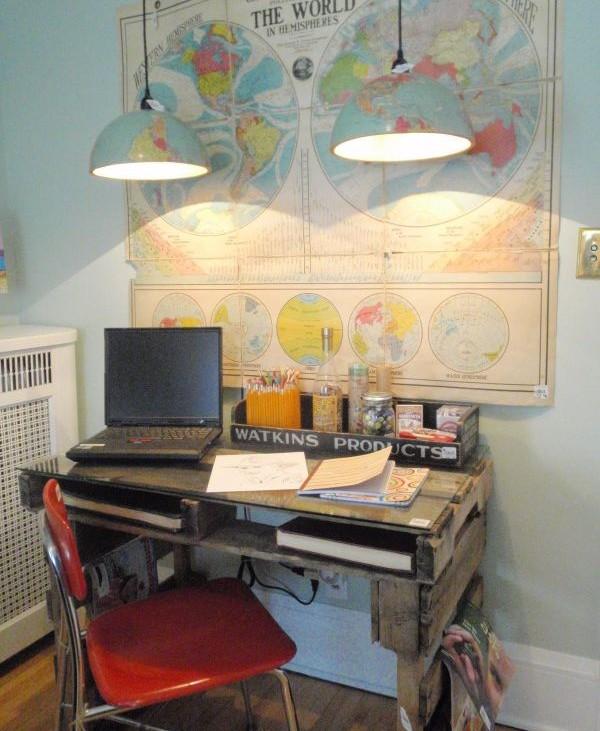 birou din paleti 11