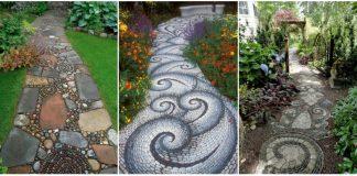mozaic din pietre pentru aleile din gradina