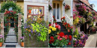 cum sa iti decorezi usa sau fereastra cu flori