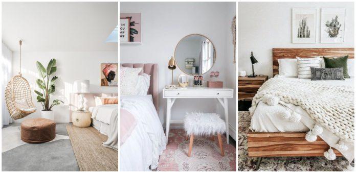 dormitor in culori deschise